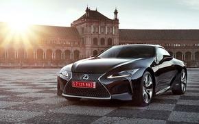 Picture car, Lexus, red, logo, beauty, Lexus LC 500, Lexus LC 500h