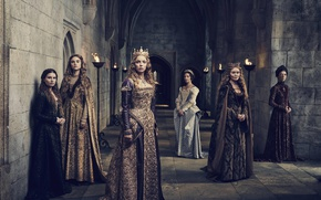 Picture girl, dress, woman, blonde, queen, tv series, The White Princess