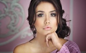Wallpaper girl, lips, Libriana, Kamila, look, portrait