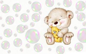 Picture smile, bubbles, toy, baby, art, children's