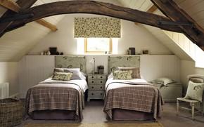 Picture room, interior, bedroom, Woodland Walk