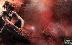 Picture red, blood, brown hair, man, book, supernatural, pose, hunter, The Mortal Instruments, The Mortal Instruments: ...