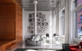 Picture design, the room, column, White Street Loft