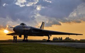 Wallpaper Avro Vulcan, the airfield, dawn