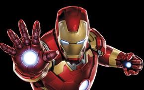 Picture costume, black background, Iron Man, comic, MARVEL, Iron Man