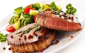 Picture meat, vegetables, tomato, salad, meat, vegetables, spices