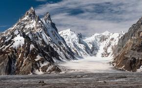 Wallpaper Pakistan, mountains, snow, Biafo glacier, Pakistan