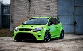 Picture green, ford, focus