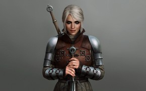 Picture Ciri, The Witcher 3 Wild Hunt, the Witcher, girl, sword, armor, Cirilla