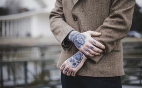 Picture hands, tattoo, tattoo