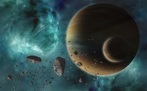 Wallpaper stars, planet, sci fi