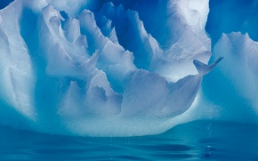Wallpaper winter, water, light, nature, ice, iceberg, Antarctica