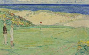 Picture field, picture, Golf, Frederick Childe Hassam, Childe Hassam, East Course. Maidstone Club