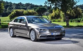 Picture auto, the sun, shadow, BMW, Sedan, chic, Luxury, 520d, worldwide