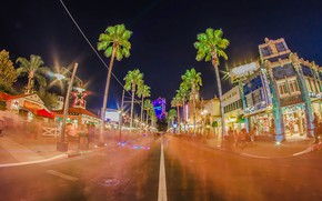 Picture Home, Lights, Night, The city, Park, Disneyland