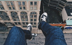 Picture road, roof, street, feet, the building, view