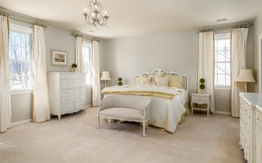 Picture white, design, bed, bedroom, chest