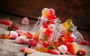 Picture Board, sweets, sugar, banks, bokeh, marmalade, cuts