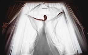 Picture girl, dress, window, the bride, Evgeniy Geynits