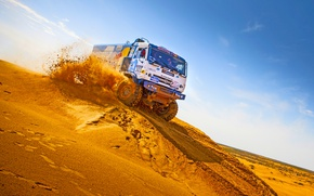 Wallpaper Race, KAMAZ, Kamaz, Rally, Master, Duck, Master, Dune, Sand