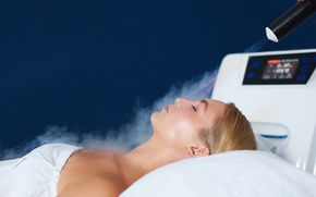 Picture woman, steam, spa, laser, Beauty treatment