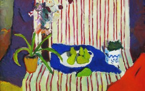 Picture flowers, still life, 2005, al, The petyaev, green pears