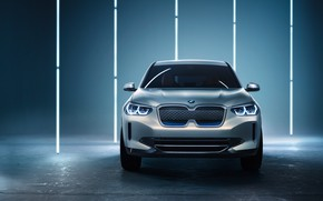 Wallpaper Concept, front view, 2018, electrocreaser, BMW iX3