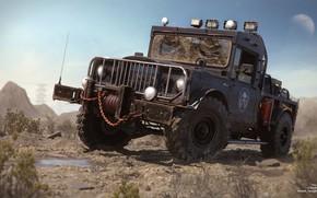 Picture desert, car, The Gladiator 69