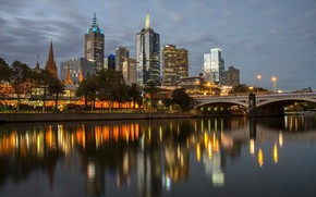 Picture The city, Skyscrapers, Melbourne