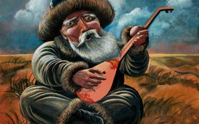 Picture the old man, Aibek Begalin, Two thousand five, dombra, Bard
