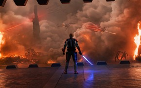 Picture Star Wars, war, fight, jedi, shield, light saber, by thetechromancer