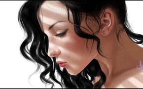 Picture girl, portrait, art, Portrait, Tatiana Lysenko