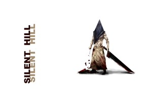 Picture horror, maniac, blood, cleaver, Silent Hill, scars, rags, pyramid head, Pyramid Head, a pool of …
