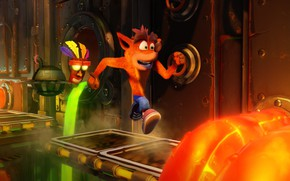 Wallpaper Crash Bandicoot Remastered, Crash Bandicoot N. Sane Trilogy, game
