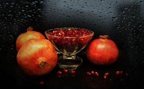 Picture fruit, still life, garnet