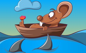 Picture Water, Boat, Mouse, Rendering