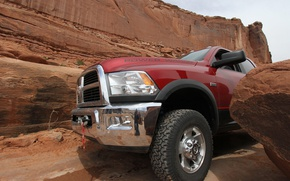 Picture rocks, SUV, Dodge, pickup, Ram