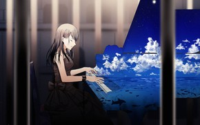 Picture music, anime, art, piano