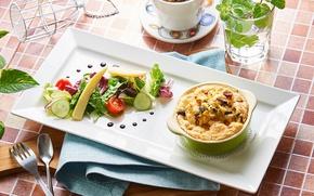 Picture vegetables, dish, salad
