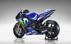 Picture Yamaha, blue, Monster Energy, Michelin, moto GP, Yamaha yzr M1, Eneos, Movistar, Blue Core
