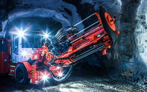 Picture machinery, mining, excavation, Sandvik long hole drill