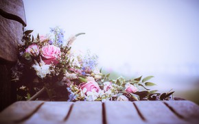 Picture flowers, background, roses, bouquet