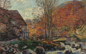Wallpaper picture, landscape, Arman Hyomin, Mill, Armand Guillaumin