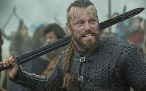 Picture actor, men, Vikings, tv series, Peter Franzén, Harald Finehair