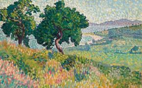 Picture landscape, picture, Henri Edmond Cross, pointillism, Henri Cross, The Bay Of Saint-Clair
