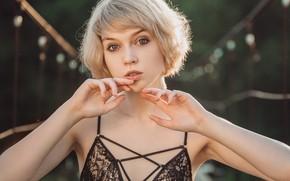 Picture look, haircut, portrait, hands, licr, Olga Pushkina, Eugene Marklew