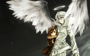 Picture girl, anime, wings, angel, japanese, uniform, seifuku, tenshi, light novel, Toaru Majutsu no Index, To …