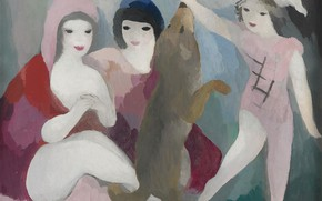 Picture Modern, 1928, Marie Laurencin, Three women and a dog