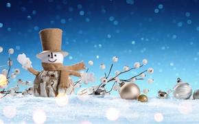 Wallpaper winter, snow, snowflakes, New Year, Christmas, snowman, happy, Christmas, winter, snow, Merry Christmas, Xmas, snowman, ...