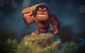 Picture Caveman, club, Neanderthal, primitive, Ali Bitaraf
